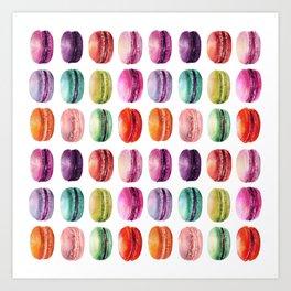 macaron lollipops Art Print