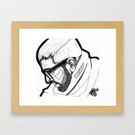 Sorrowing Man. Framed Art Print