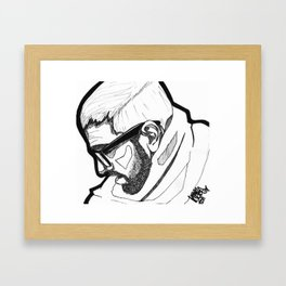 Sorrowing Man. Framed Art Print