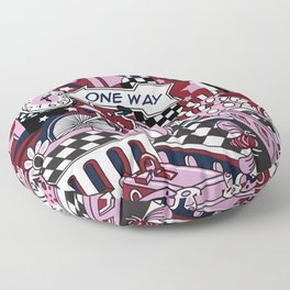 One Way Floor Pillow