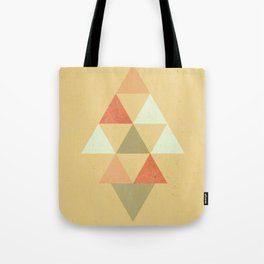 Being Mindful, Geometric Triangles Tote Bag
