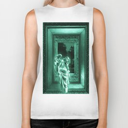 Angel of Bristol (Blue/Green - Cyan) Biker Tank
