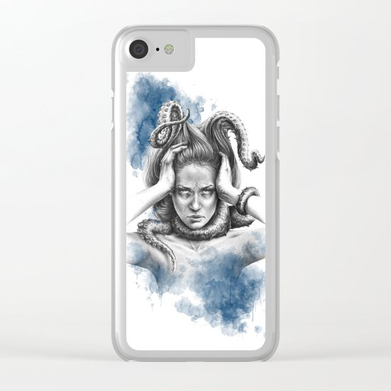 Nothing kills me like my mind Clear iPhone Case