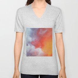 Orange Sky at sunset Unisex V-Neck