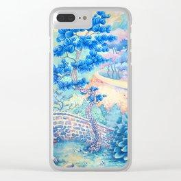 Blue Pine Clear iPhone Case