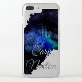Carpe Noctem (Seize The Night) Clear iPhone Case