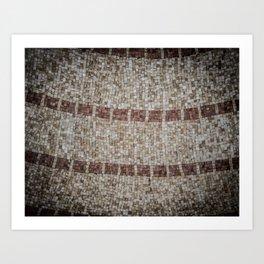 Mosaic Tiles Art Print