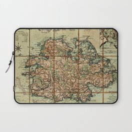 Map Of Antigua 1779 Laptop Sleeve