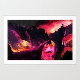 Land of Fire Art Print