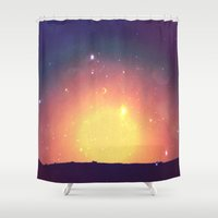 sun and moon Shower Curtains featuring sun&moon by PureCreativeEnergy