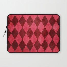 Ruby Harlequin Grunge Laptop Sleeve