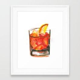 Negroni Cocktail Hour Framed Art Print