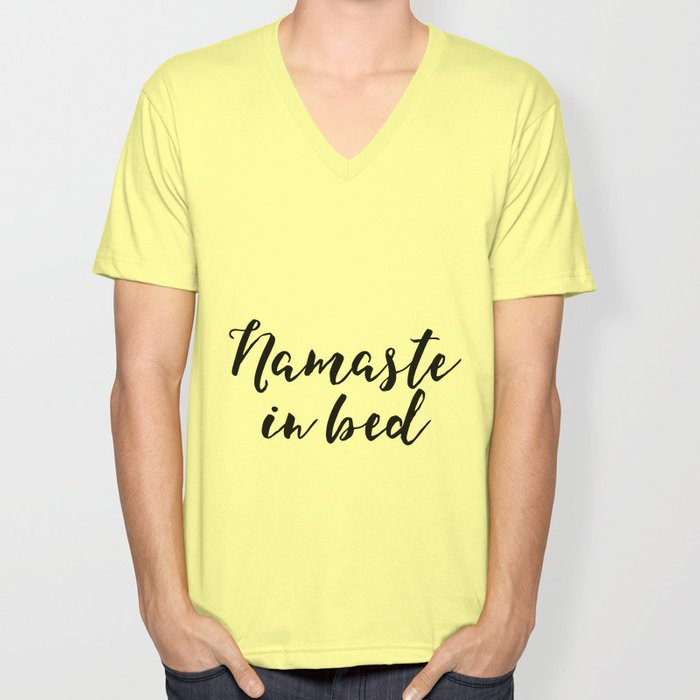 Funny Namaste In Bed Quote Funny Wall Art Printable Typography Print ...
