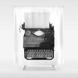 typewriter Shower Curtain