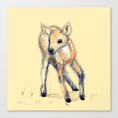 Wobbly Deer Canvas Print