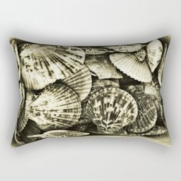 Vintage shell collection in sepia 2 Rectangular Pillow