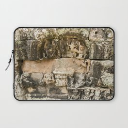 Mismatched Repairs, Bayon Temple, Angkor Thom, Cambodia Laptop Sleeve