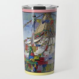 NEPALI PRAYERS CARRIED BY THE WIND FROM FLAGS Travel Mug