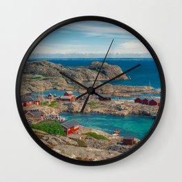 Sleepy Coastal Village Photo Wall Clock