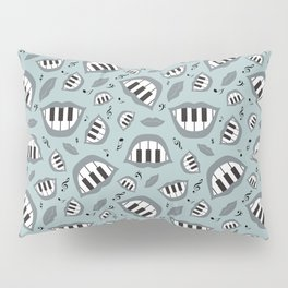 Piano smile pattern in grey Pillow Sham