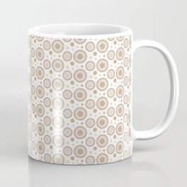 Pantone Hazelnut Polka Dots and Circles Pattern on White Coffee Mug