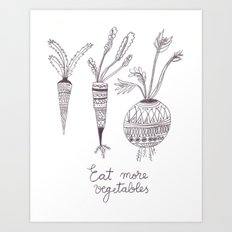 Eat more vegetables Art Print