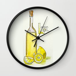 L is for Lemon Oil Wall Clock