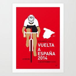 MY VUELTA A ESPANA MINIMAL POSTER 2014 Art Print