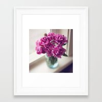 peony Framed Art Prints featuring Peony by Jenny Ardell