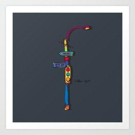 traffic signal2 Art Print