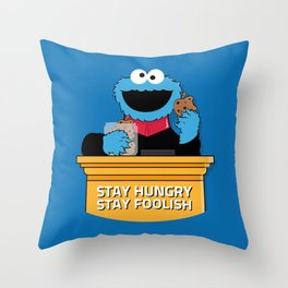 Stay Hungry. Stay Foolish. Throw Pillow