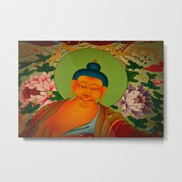 Buddha, Pema Tsal Sakya Monastery, Pokhara, Nepal Metal Print