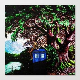 Tardis And Dr.Who 1 Canvas Print