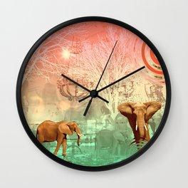 Elephants in the Ballroom Wall Clock