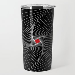 White, black, red - Optical Game 26 Travel Mug