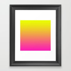 PINK & YELLOW FADE Framed Art Print