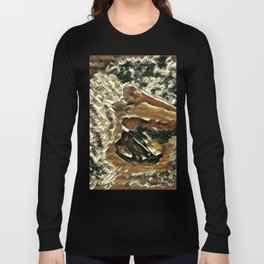 Abstract Pelican Art Long Sleeve T-shirt