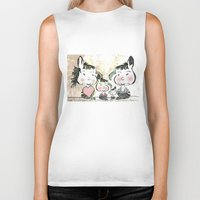 family Biker Tanks featuring Family by Digital-Art