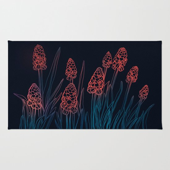 Hyacinths in the night Rug