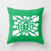 christian Throw Pillows featuring Christian Cross by politics