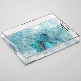Blue Aqua Agate Acrylic Tray