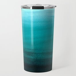 Ombre background in turquoise Travel Mug