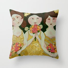 Bridesmaids Throw Pillow