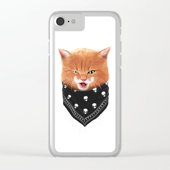 Cheeky cat Clear iPhone Case