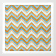Something Fishy Waves. Art Print