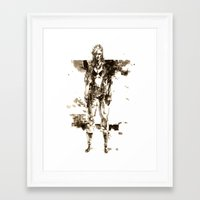 metal gear solid Framed Art Prints featuring Metal Gear Solid wolf by Hisham Al Riyami