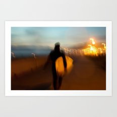 End of Day Surf 2 Art Print