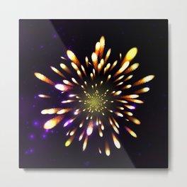 Firework, light effects Metal Print