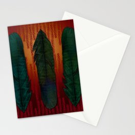 Feathers at campfire Stationery Cards