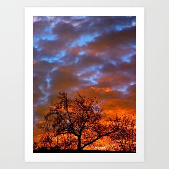 Winter Sunrise Art Print